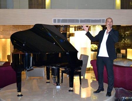 Yves Le Baron, performs for the Carnevale Di Venezia night at the Centara Grand Phratamnak Resort Pattaya.