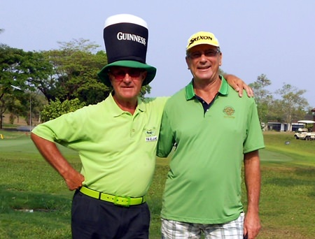 Howard Stanley and Bryan Rought get into the St. Patrick's Day spirit.