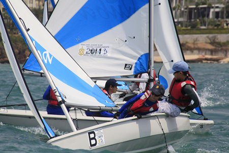 The sailing was fiercely competitive during the 2-day regatta.