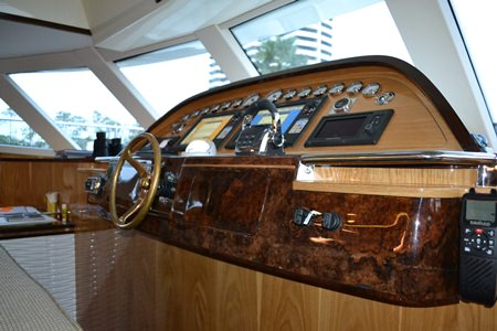The vessel uses state of the art technology to form a landmark in boat-building design.