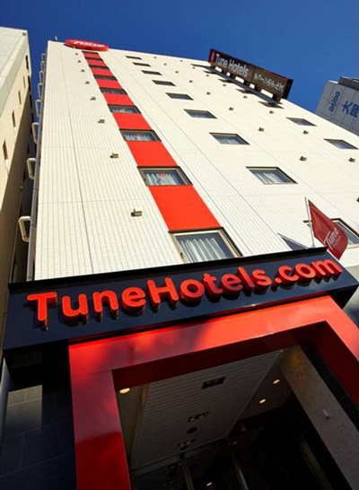 With a JPY10 billion war-chest Tune Hotels is set to expand in Japan, with 20 hotels by 2020.
