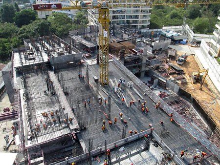 Construction work well underway at Unixx South Pattaya.
