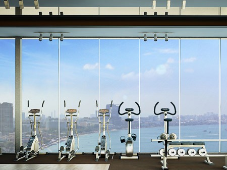 The state of the art fitness center will be located on the building's 24th floor.
