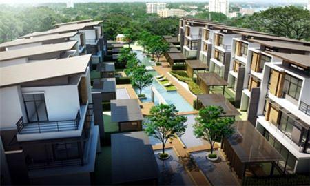 A computer graphic shows Nirvana's BEYOND @ Beach Pattaya development in Na Jomtien.