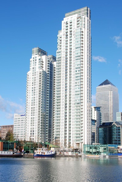 The 48-storey Pan Peninsular in Canary Wharf was the tallest residential tower in London when completed in 2008. (Photo/Wikipedia Commons)