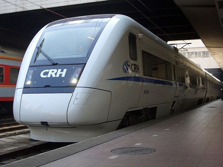 The government's plan to develop a high speed rail network has been put on the backburner following the ruling to scrap the planned 2-trillion-baht infrastructure loan bill. . (Photo of Chinese high speed train by Bvehk via Wikimedia Commons)