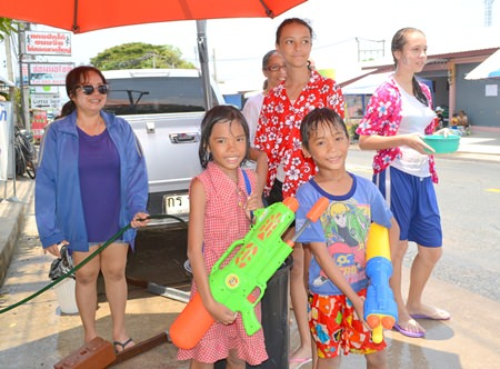 Everyone, both Thai and foreign, enjoys Songkran in Pattaya.