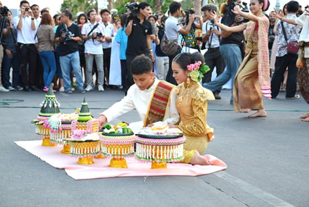 "A traditional wedding ceremony broadens the concept of the ""Summer of Love"" festival."