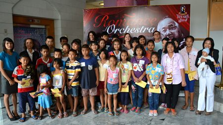 Children from the Hand to Hand Foundation also enjoyed the concert.