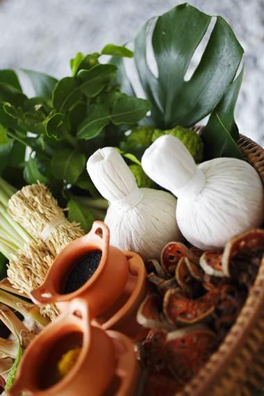 Natural herbs used at Tea Tree Spa.