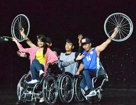 The wheelchair dance troupe.