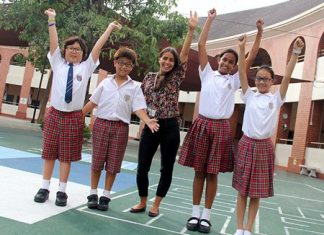 Regents' Primary students celebrate their achievement at FOBISIA Maths Challenge in Malaysia.