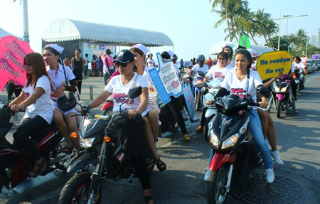 Volunteers take to the streets to spread the anti-HIV/AIDS message.