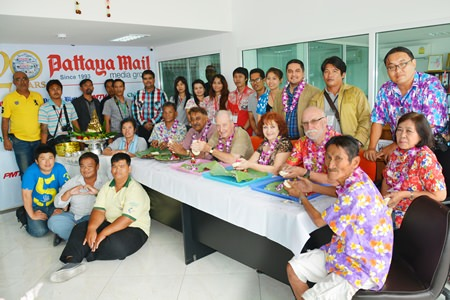 The Pattaya Mail family marks Songkran with a blessing ceremony in our company offices.