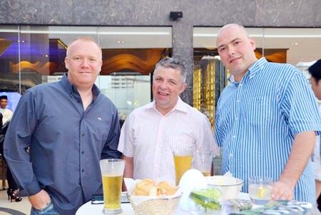 (L to R) Earl Brown, Paul Strachan and Samuel Jones.