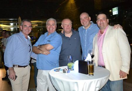 (L to R) Craig Muldoon from Platinum Financial Ltd., David Strachan from Pattaya Property Auctions, Earl Brown, Samuel Jones and David Callick.