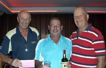 Mick Beresford and Bill Peach with Colin Davis (left).