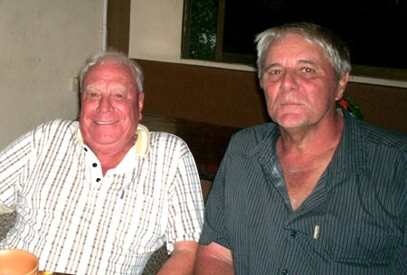 Peter Habgood (right) with good mate and popular golfer Reg Smart, who The Bunker Boys regret to inform sadly passed away on Monday following a recent bout of illness.