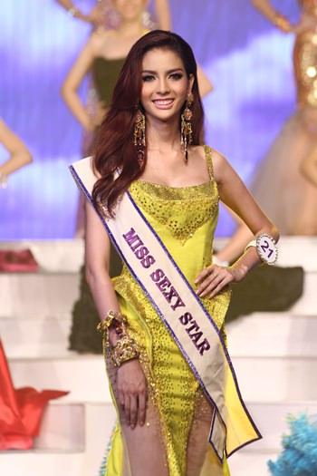 Miss Tiffany Universe Nissa Katerahong also won the Miss Sexy Star award.
