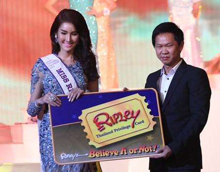 Miss Ripley's Popular Vote was won by Thasanan Kanghae (left).