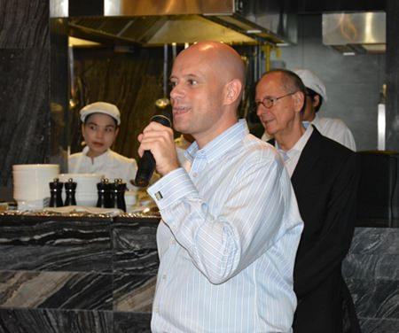 Dominique Ronge, General Manager of the Centara Grand Pratamnak Resort Pattaya, gives a warm welcome to the guests.