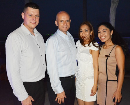 (L to R) Carl Duggan, Executive Assistant F&B Manager, Dominique Ronge, General Manager, Supparatch Piyawacharapun, F&B Sales and Marketing Manager and Sirilak Khampan, PR and Sales Manager, of the Centara Grand Pratamnak Resort Pattaya.