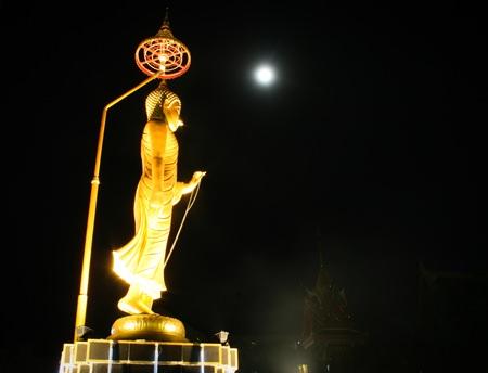 A full moon on Visakha Bucha Day brightens the night sky.