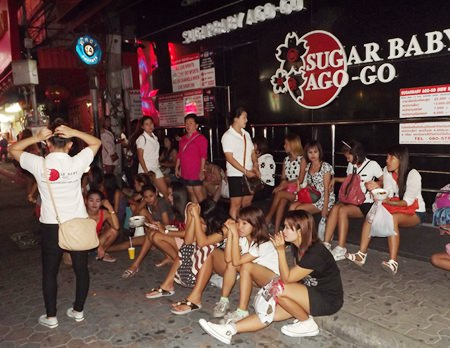 Bars were closed on Walking Street for Visakha Bucha Day.