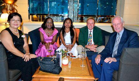 (L to R) PCEC members Siriwan Anderson, Janet Smith, Jane Benson, Jim Benson and Richard Smith.