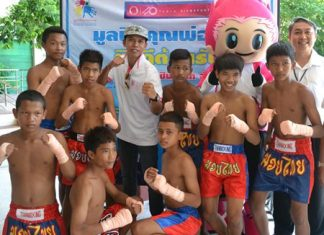 Somjit won a gold medal for boxing, but he is also a fan of Muay Thai.