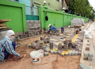 The first phase of the wheelchair path near the Redemptorist Vocational School for Persons with Disabilities is finally nearing completion.