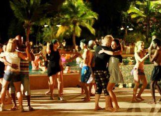 Dancing the night away at Ravindra Beach Resort & Spa.