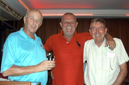 Sunday winners Freddy Starbeck (center) and Eddy Beilby (right) with Colin Davis.