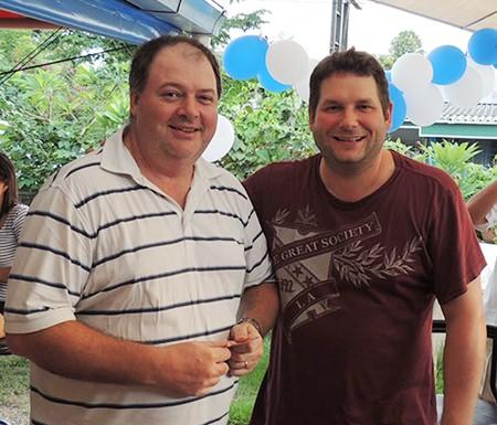 Birthday scramble winners: Guy Brennan & Mark Owen.