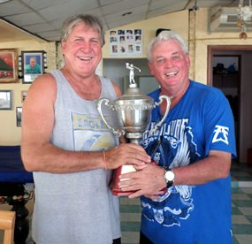 Rosco and Lumpy with the Diggers Cup.