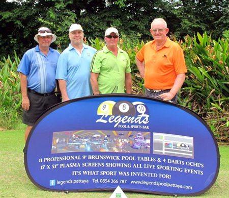 Low Gross winner Max Scott (right) with Bob Watson, Jason McDonald and William Vickers