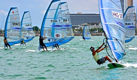 Some of SE Asia's best windsurfers took part in the RS-One Asian Windsurfing Championships. (Photo/TOG Regatta)