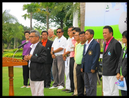 Kullatorn Mesommonta (Mike) welcomes competitors to sectional qualifying for this year's Caddie Championship at Siam Plantation.