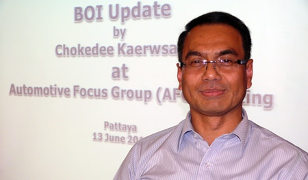 Chokedee Kaerwsang, the Deputy Secretary General of the Office of the Board of Investment.