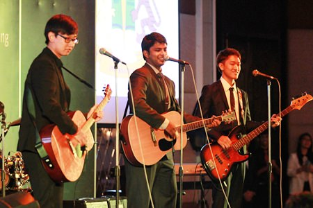 'R Cubed' perform a special song for their graduation evening.