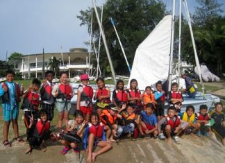 Students had plenty of hands-on experience during their trip to the yacht club.