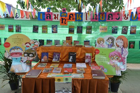 Pattaya students are being encouraged to read.