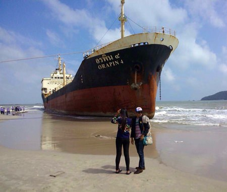 The Thai diesel oil tanker MT Orapin 4, carrying 14 crew members, drifted ashore in Sriracha on Sunday, June 1. The tanker had been missing since May 27, having fallen prey to pirates en route from Singapore to Borneo.