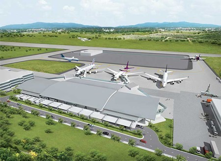 An artist's rendering of U-Tapao-Pattaya International Airport where construction of a new passenger terminal has stalled with no estimate on when work will begin again.