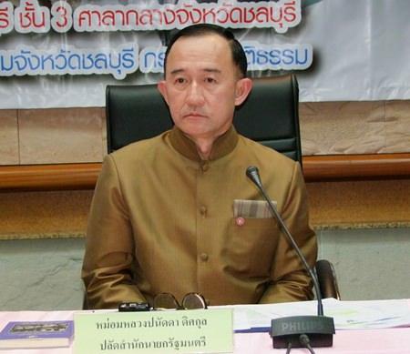 Deputy Secretary Panadda Diskul, acting Permanent Secretary for the Prime Minister's Office.