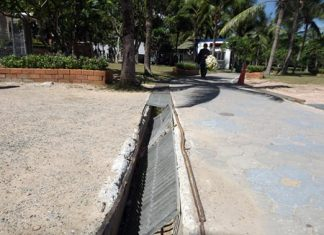 Amongst other complaints, Naklua residents have asked city fathers to replace drainage covers damaged by heavy trucks in the area.