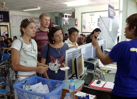 The Chonburi Land Transport Office was crowded with license applicants last week, trying to get their licenses before the new, harder tests took effect.