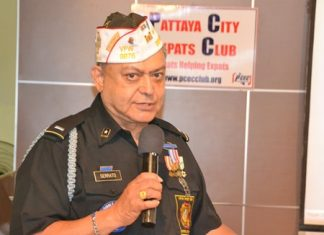 Al Serrato, District Commander for Thailand and Cambodia VFW Posts provides some history on the VFW to the PCEC and describes many of the services they offer to US veterans.