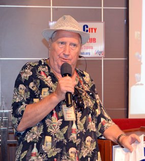 """PCEC Member """"Hawaii"""" Bob Sutterfield announces planned changes for his Frugal Freddy participants, a PCEC special interest group that receives discounts from participating restaurants in Pattaya."""