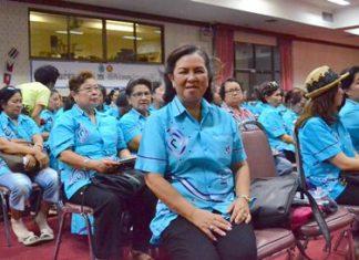 Pattaya Women's Development Group President Naowarat Khakhay organized vocational-training for members.